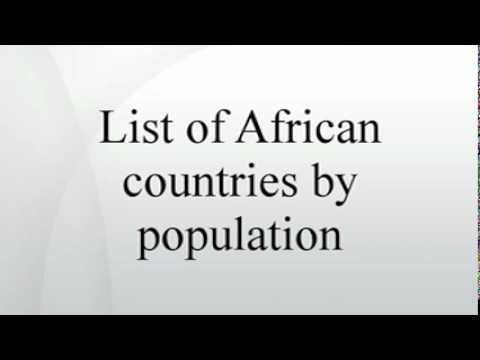 List of African countries by population