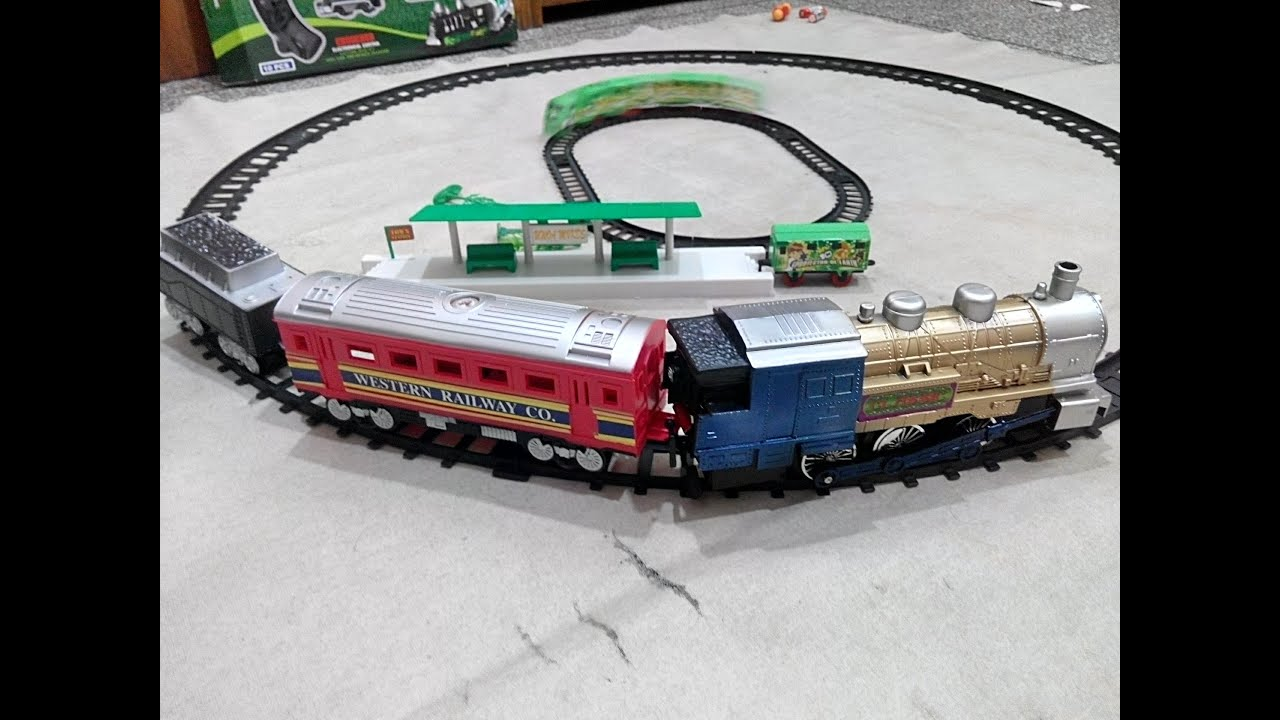 union express electric toy train set for kids unboxing race and review youtube. Black Bedroom Furniture Sets. Home Design Ideas