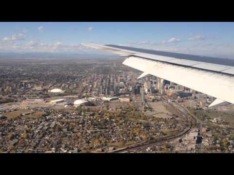 Bumpy Boeing 767 approach and landing in Calgary