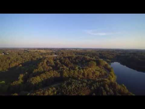 Chroma 4K drone sunrise over Fremont Michigan