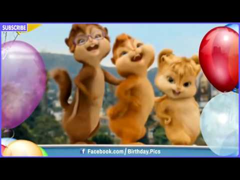 Happy Birthday Song Video Chipmunks & Chipettes Style   YouTube