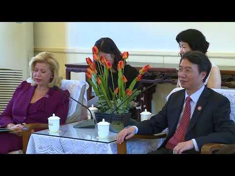 Madame Dominique OUATTARA visite le siège de la FONDATION SOONG CHING LING