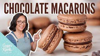 The BEST Chocolate Macaron Recipe