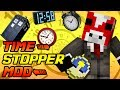 """""""PAUSE TIME WITH A MAGIC CLOCK"""" Minecraft Mod Showcase!"""