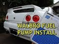 INSTALLING WALBRO 255 FUEL PUMP IN R33 SKYLINE