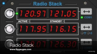 Radio Stack for Saitek Flight Information Panel & SPAD.neXt