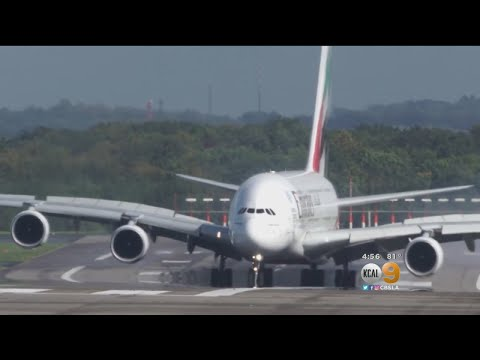 Massive Airbus Jet Gets Rocked Around In Crosswind On Landing