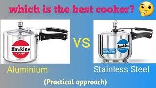 Aluminium vs Stainless Steel Pressure cooker  Advantage of S.S. pressure cooker 