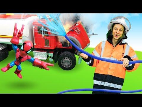 Автомастерская Фёдора - Пожарная машина для Мстителей - Видео игры.