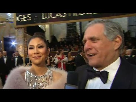 Leslie Moonves and Julie Chen at the Oscars
