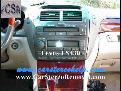 Lexus Ls430 Stereo And Cd Removal