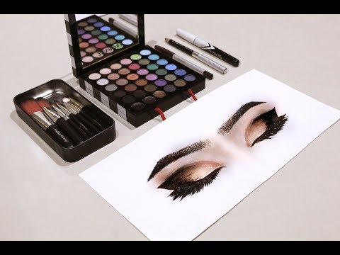 Art Challenge: DRAWING With MAKEUP! | Jeanpriscilla