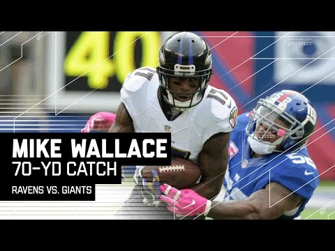 Joe Flacco Finds Mike Wallace for a Massive 70-Yard Gain! | Ravens vs. Giants | NFL