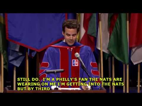 Robert Costa's 2018 American University SPA Commencement
