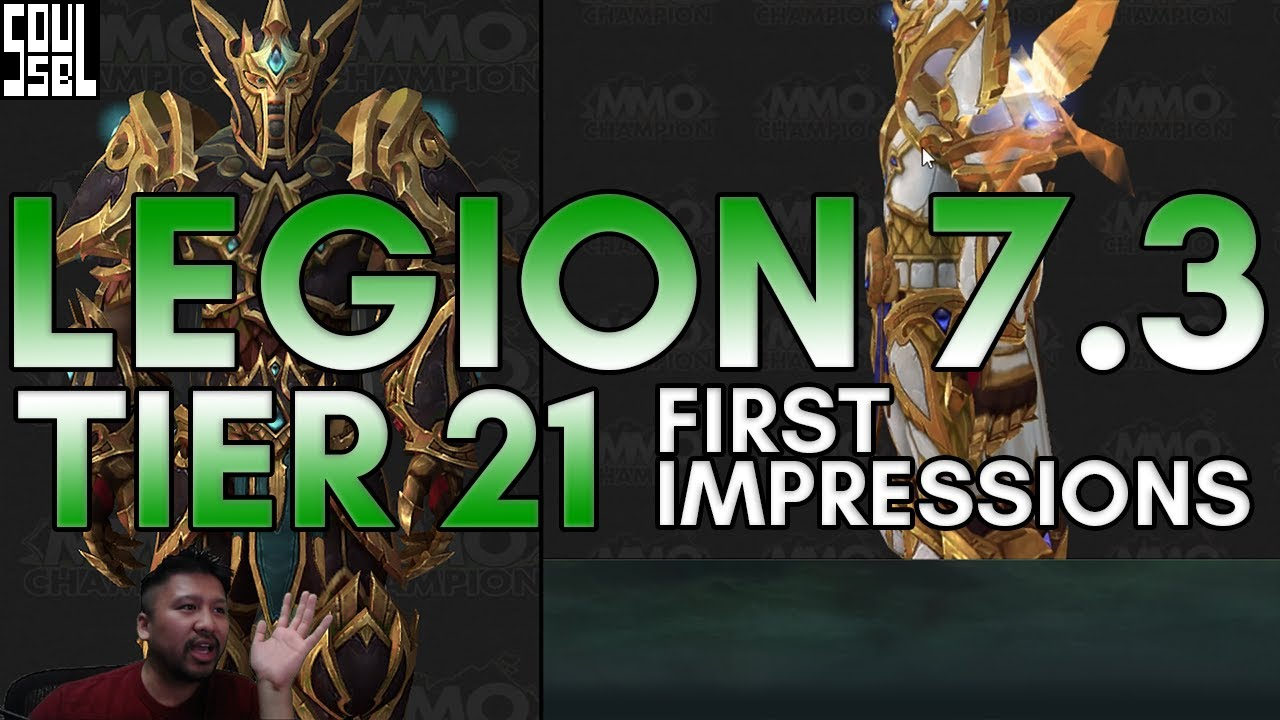 Download Tier 21 armor sets in Legion 7.3 PTR. First looks, impressions, opinions!