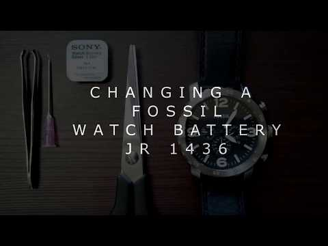 CHANGING A FOSSIL WATCH BATTERY JR1436