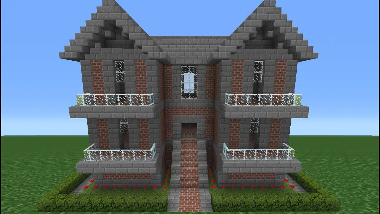 Minecraft Tutorial How To Make A Brick House