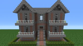 Minecraft Tutorial: How To Make A Brick House - 10
