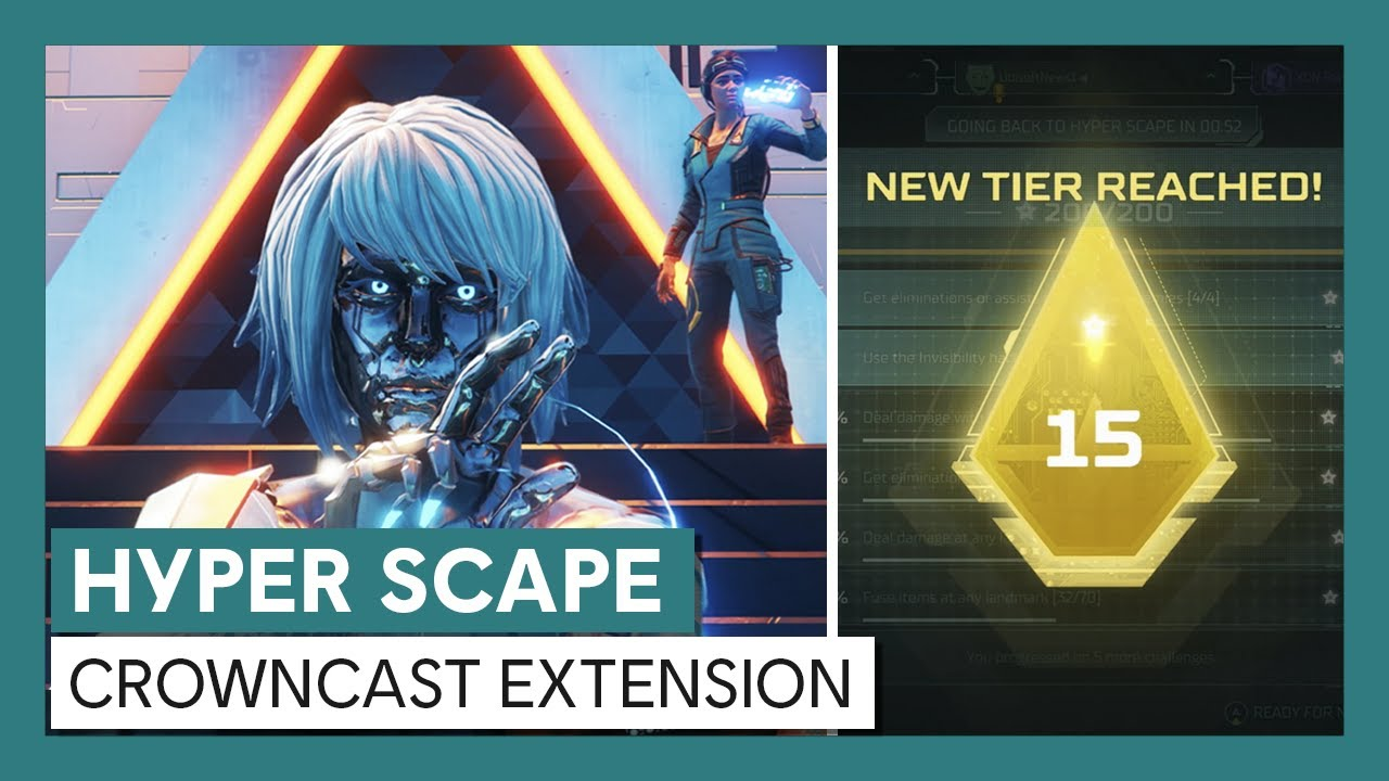 Hyper Scape: Rank up with the Crowncast Extension