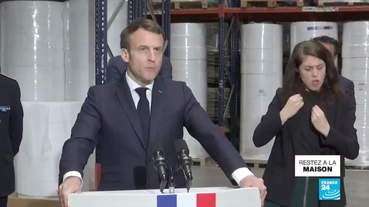 Coronavirus : Macron veut rebâtir l'indépendance de la France sur les produits de première néce