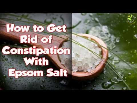 How To Get Rid Of Constipation With Epsom Salt