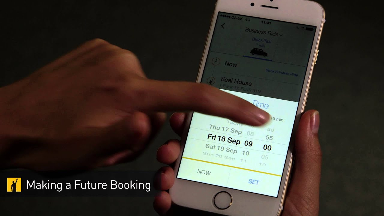Prebook your ride using Gett for Business