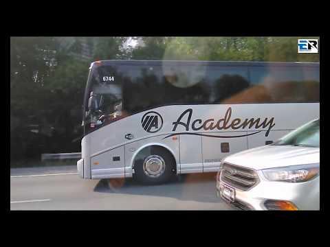 Luxury bus in american highway speed 180km+ part-2