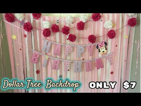 Party and Dessert Table Backdrop Tutorial - Dollar Tree backdrop