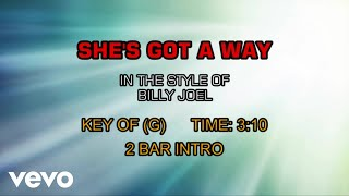 Billy Joel - She's Got A Way (Karaoke)