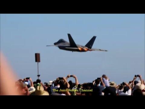 F 22 Aerobatics Display At Avalon Airshow 2017 Day 1&2