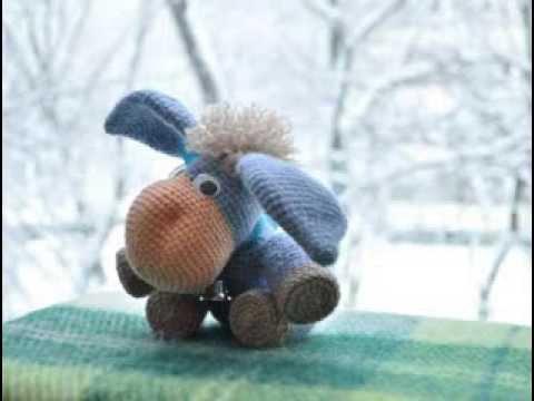 вязанные игрушки: Ослик ИА