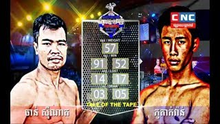 Chan Sinath Vs (Thai) Phutakvan, 09/December/2018, CNC Boxing | Khmer Boxing​ Highlights
