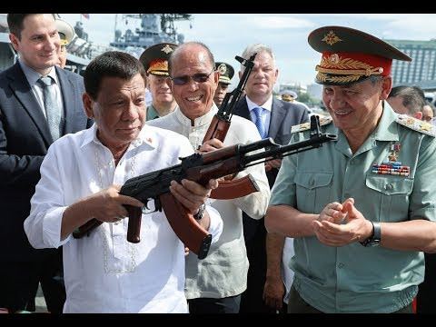 Philippines' Duterte personally receives Russia's arms shipment & tours Russian destroyer