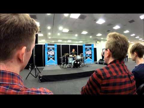 Mike Johnston - clinic at the Education Zone - London Drum Show 2015