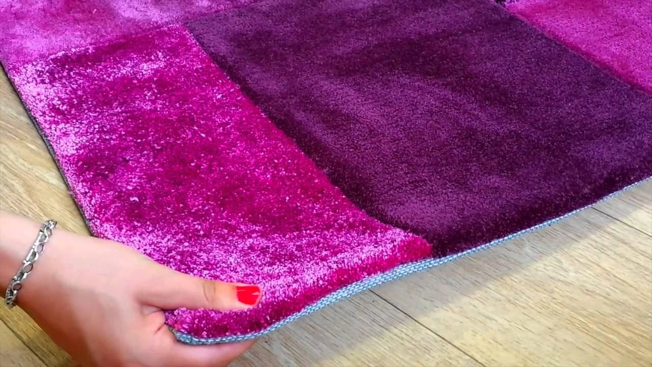 tapis moderne patchwork violet par esprit home - Tapis Moderne Violet
