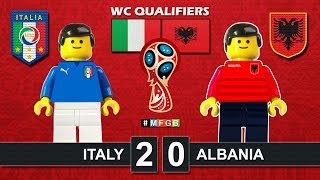 ITALY vs ALBANIA 2-0 • World Cup Russia 2018 Qualifiers 24/03/2017 ( Lego Football Highlights Italia
