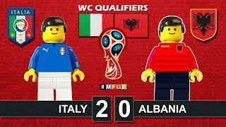 ITALY vs ALBANIA 2-0 • World Cup Russia 2018 Qualifiers ( Film Lego Football Highlights ) Italia