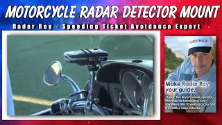 Radar Detector Motorcycle Mount