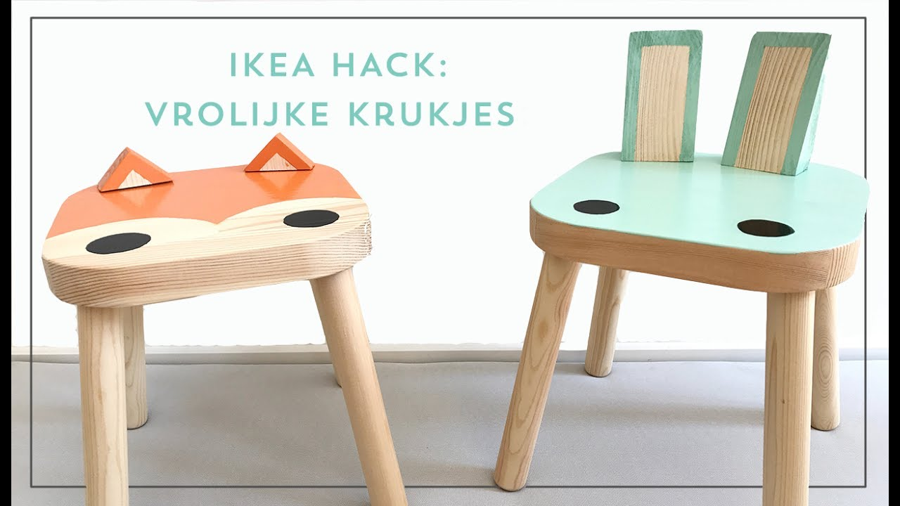 Onwijs IKEA hacks: Zo maak je van een FLISAT kruk een tof kinderstoeltje CY-76