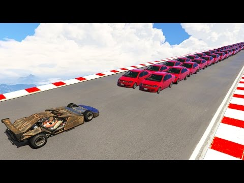 CAN A RAMP CAR FLIP 100+ CARS IN A ROW? (GTA 5)