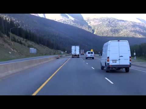 Driving the Eisenhower Pass (I-70) in Colorado