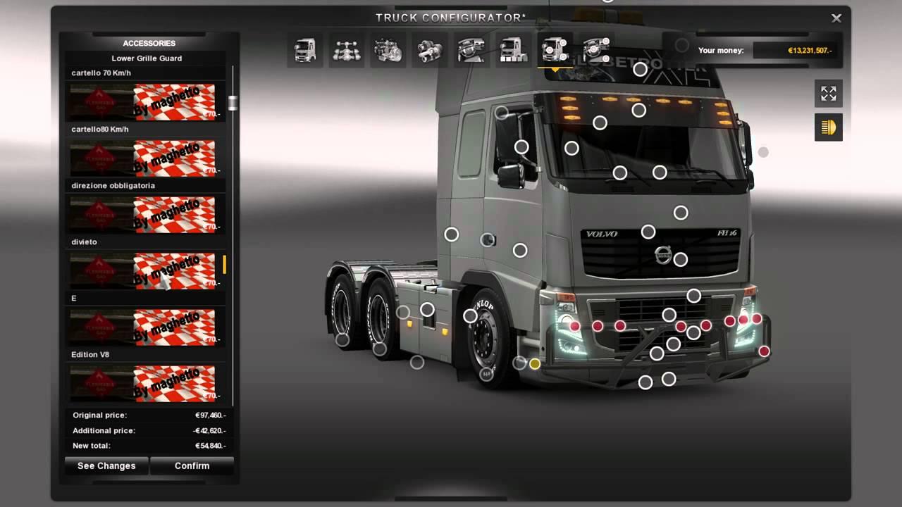 Euro Truck Simulator 2 Tuning Mods Working On 1 7 1