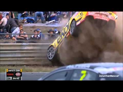 Huge Crash for Scott Pye V8 Supercars 2013 Tasmania