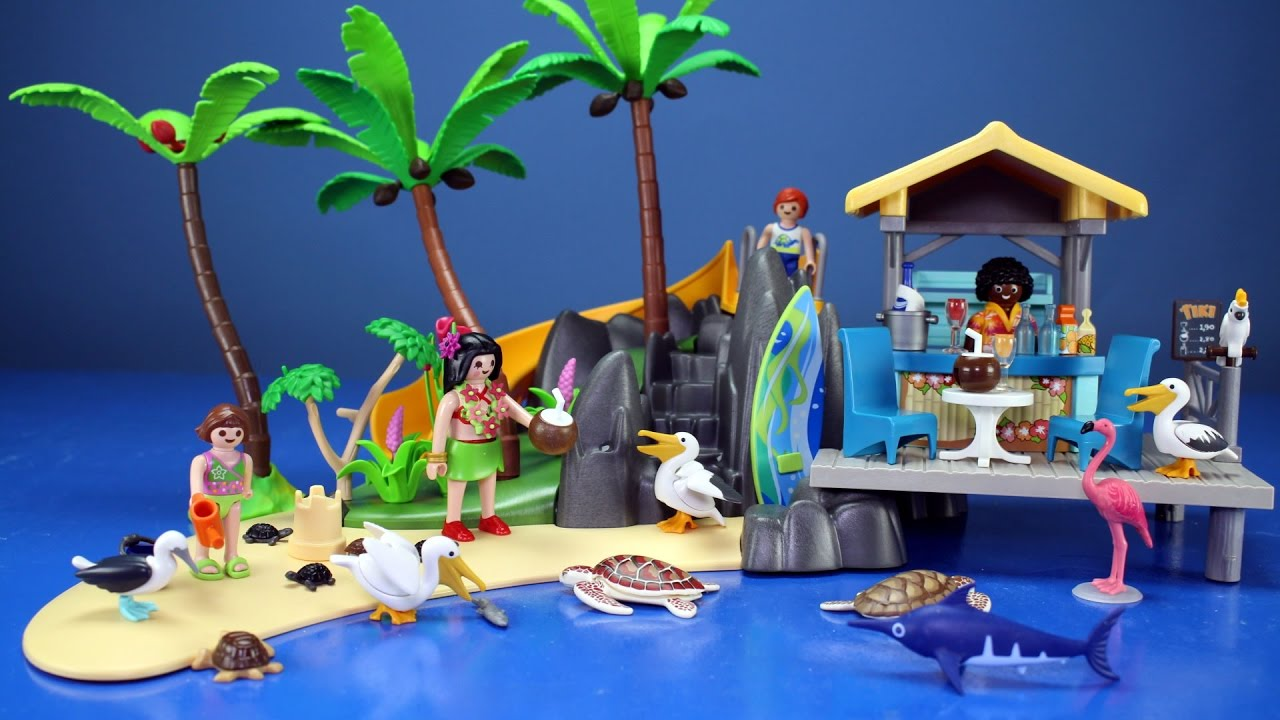 Toy Island Toys Playmobil Family Fun Island Juice Bar With Sea Animals