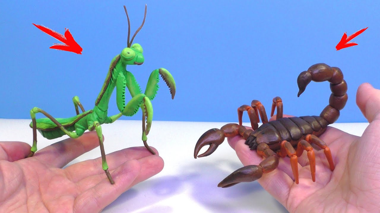 GiANT MANTIS vs. SCORPION - Making with Clay