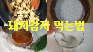 돼지감자차,가루 만들고 먹는법(당뇨와 성인병에 탁월한) -돼지감자시리즈 4