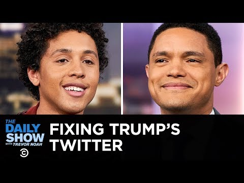 Jaboukie Young-White Fixes Donald Trump's Twitter Account | The Daily Show