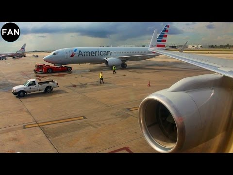 ENGINE POWER! American 757-200WL Departure From Miami Airport!