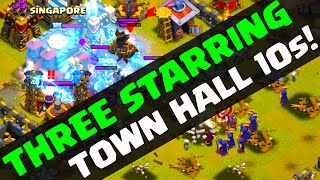 Clash of Clans - THREE Starring Town Hall 10s - It