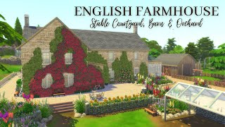 B-DAY Q\u0026A \u0026 DREAM FARMHOUSE | English Courtyard Farmhouse Sims 4 Speed Build